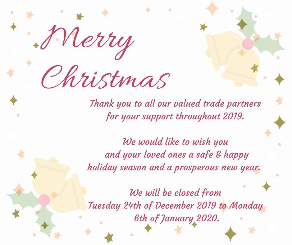 Holiday Closure 2019